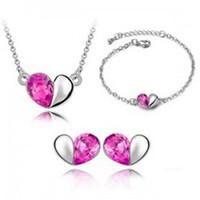 ctx_b16_bộ trang sức hai nửa trái tim hồng cao cấp