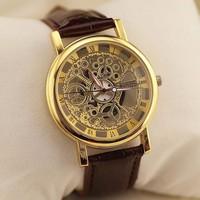 Đồng hồ nam dây da giả cơ cao cấp Kings KNS01G