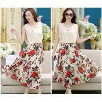HÀNG NHẬP CAO CẤP - Đầm maxi dự tiệc hoa hồng