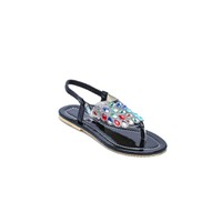 Giày sandal xỏ ngón đính đá MZXN05