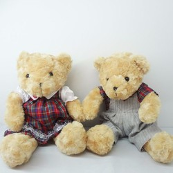 Gấu Cặp Teddy Áo Sọc