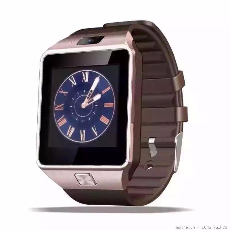 Image result for Bộ đồng hồ thông minh Smart Watch Uwatch DZ09 (Vàng)