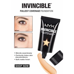 Xách tay mỹ NYX Kem nền Invincible Fullest Coverage Foundation