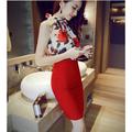 Sét áo voan hoa hồng và chân váy TH08425