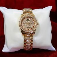 Đồng hồ nữ Rolex đính đá lấp lánh