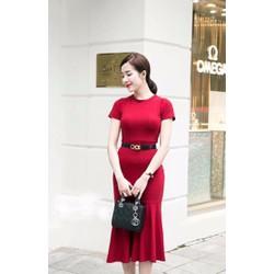 Đầm Đỏ Thiết Kế Đuôi Cá Sang Trọng-MSP 2482