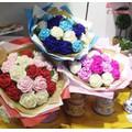 Bó hoa giấy nhún handmade