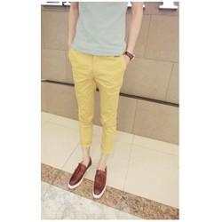 Quần kaki màu vàng vải co giãn