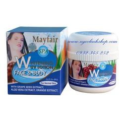 Kem dưỡng trắng da Mayfair Trái Cây Face, Body