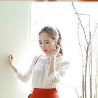 Áo Kiểu Phối Ren Hoa Mai Tay Lỡ - TP489