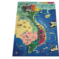 Đồ Chơi Gỗ bản đồ Việt Nam và biển đảo