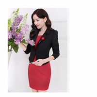 Set Áo Vest + Đầm Body Đỏ phong cách Hàn