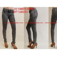quần jean nữ hot girl lưng cao 1 nút form chuẩn đẹp QJE245