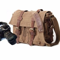 DC022 - Túi đeo máy ảnh Canvas phong cách Praza
