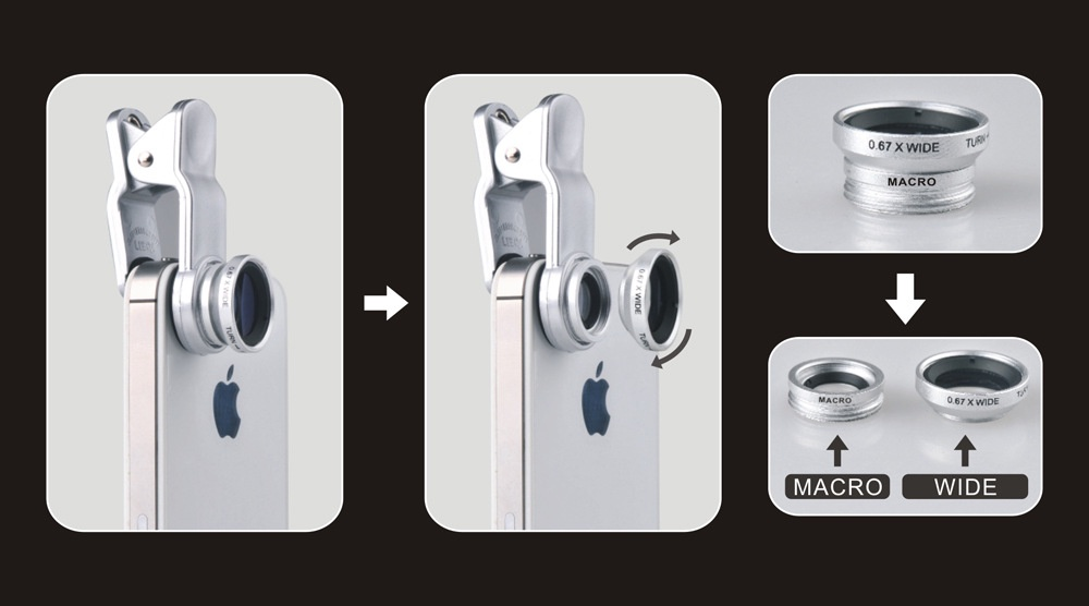 Len điện thoại 3 in 1, lens chụp hình 10