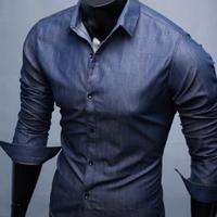 Aó sơ mi nam giả jeans form body cực chuẩn dành cho nam trẻ trung