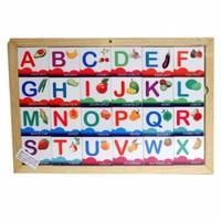 Đồ chơi gỗ xếp hình các chữ cái chủ đề hoa quả