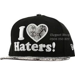 Nón snapback hip hop I love haters phối da. Hàng nhập cung cấp sỉ lẻ