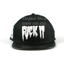 Nón snapback hip hop FUCK IT phối da. Hàng nhập cung cấp sỉ lẻ