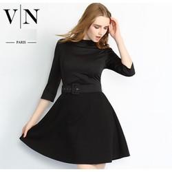 Đầm xòe mùa Thu Thời trang cao cấp Paris  VNA91127