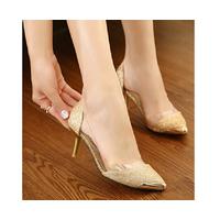 HÀNG CAO CẤP CHẤT NGOẠI NHẬP - Giày cao gót kim tuyến phối nhựa trong