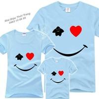 Combo 3 áo gia đình Smile
