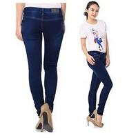 Quần Jeans Nữ Viền Chỉ Nổi Xuất Khẩu_GS130 - 0558