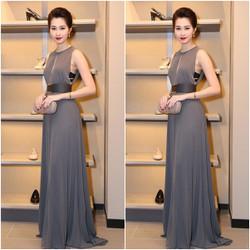 Đầm dạ hội màu xám ghi như Hoa hậu Thu Thảo MX87