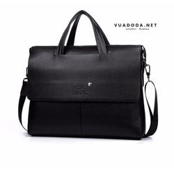 Cặp túi xách da nam cỡ A4 MontBlanc - TXN01