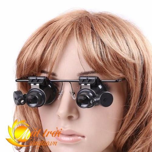 Kính lúp đeo mắt có đèn hỗ trợ phóng to sửa chữa điện tử