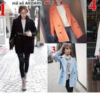 Áo khoác korea from dài mặc mùa đông cực ấm áp AKMT14