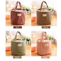 Túi đựng cơm giữ nhiệt châm bi phối ren handmade cute