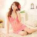 Đầm ngủ màu hồng cam gợi cảm