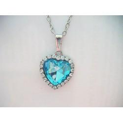 dây chuyền trái tim xanh lấp lánh