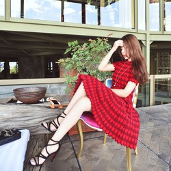 Đầm nữ thời trang, họa tiết xinh xắn - D056