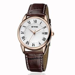 Đồng hồ EYKI nam dây da nâu đẵng cấp EY014