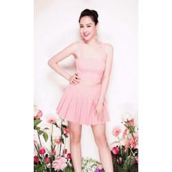 Set Bộ áo hồng váy xòe S108
