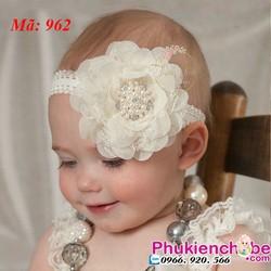 Băng đô bông lớn dành cho bé 3-24 tháng