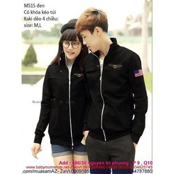 Áo khoác cặp đôi in logo cờ mỹ sành điệu trẻ trung cAKC152