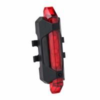 Đèn Led xe đạp Rapid sạc USB Đen sáng đỏ