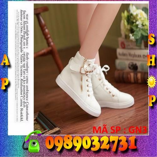 Giày sneaker Hàn Quốc trắng - GN3