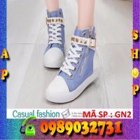 Giày sneaker nữ jean cực đẹp - GN2