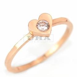 Nhẫn Titan Hàn Quốc Trái tim đính đá - Trang sức Titan