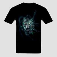 Áo Thun 3D Wolf Green - AT107060
