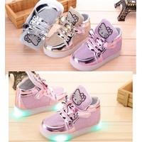 Giày trẻ em bata Kitty đèn - giày bé gái