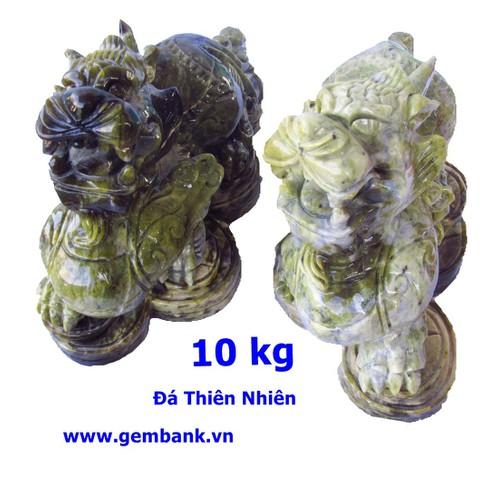 Cặp Tỳ Hưu Phong Thủy Lam Ngọc 10 kg