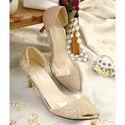 Giày cao gót đính kim sa cao cấp