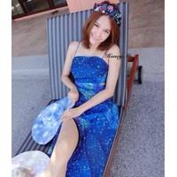 Đầm dài hoạ tiết