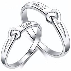 Nhẫn đôi nc136 tình yêu vĩnh cửu