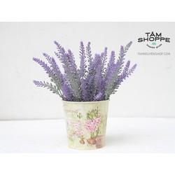 Xô hoa Lavender Vintage